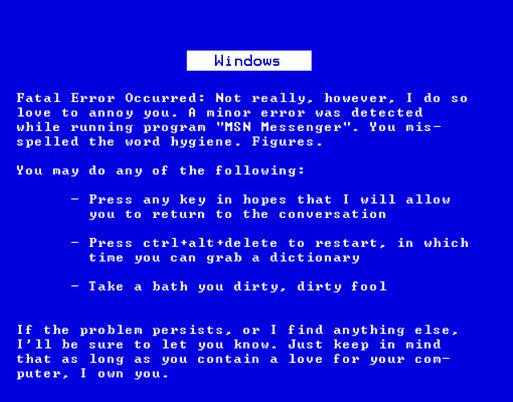 Windows zeigt Blue Screen