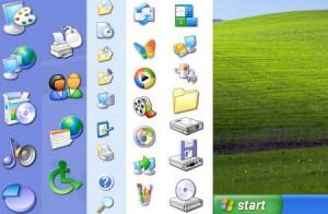 Desktop Icon-Symbole Symbolunterschriften hintergrund transparent darstellen