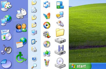 Windows XP Desktop Icons