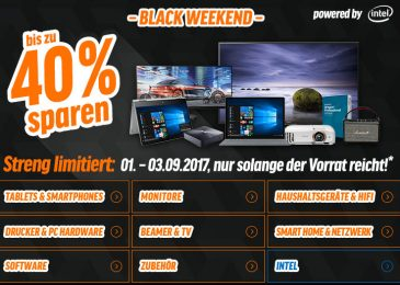 HEUTE – BLACK WEEKEND – Bis zu 40 % Rabatt – notebooksbilliger.de