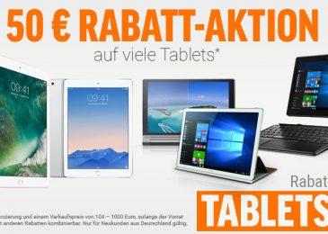 50 Euro Rabatt auf Tablets WS